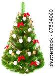 elegant christmas tree on a... | Shutterstock . vector #67534060