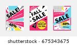 flat design black big sale... | Shutterstock .eps vector #675343675