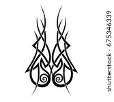 tattoo tribal vector design.... | Shutterstock .eps vector #675346339