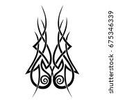 tribal tattoo art designs.... | Shutterstock .eps vector #675346339
