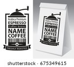 paper packaging with label for... | Shutterstock .eps vector #675349615
