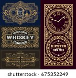 set of old cards | Shutterstock .eps vector #675352249