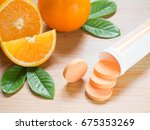 vitamin c effervescent tablet... | Shutterstock . vector #675353269