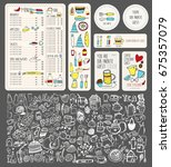 vector restaurant brochure ...   Shutterstock .eps vector #675357079