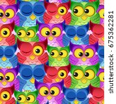 seamless pattern with colorful... | Shutterstock .eps vector #675362281