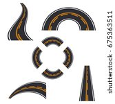 road elements street transport... | Shutterstock .eps vector #675363511