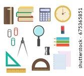 vector illustration of back to... | Shutterstock .eps vector #675365851