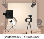 photography studio with special ... | Shutterstock .eps vector #675368821