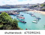 newquay  cornwall  uk. july 01  ... | Shutterstock . vector #675390241
