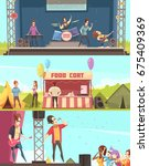 open air festival players and...   Shutterstock .eps vector #675409369