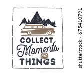 summer inspirational badge... | Shutterstock .eps vector #675410791