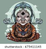 buddha   Shutterstock .eps vector #675411145