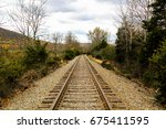 railroad to trails | Shutterstock . vector #675411595