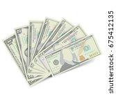 dollars banknote stack vector.... | Shutterstock .eps vector #675412135