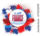 france  bastille day design ... | Shutterstock .eps vector #675423949