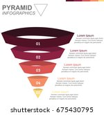 pyramid infographics upside... | Shutterstock .eps vector #675430795