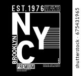 tee print vector design with... | Shutterstock .eps vector #675431965