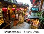 jiufen taiwan   december 12 ...   Shutterstock . vector #675432901