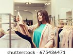 sale  shopping  fashion  style... | Shutterstock . vector #675436471