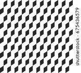 retro memphis geometric cube... | Shutterstock .eps vector #675436579