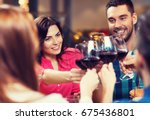 leisure  celebration  drinks ... | Shutterstock . vector #675436801