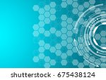 texture of technology  geometry | Shutterstock .eps vector #675438124