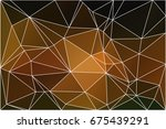 black orange yellow abstract... | Shutterstock .eps vector #675439291