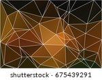 black orange yellow abstract... | Shutterstock .eps vector #675439291