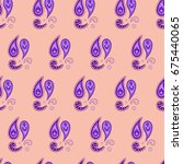 paisley seamless pattern  vector   Shutterstock .eps vector #675440065