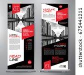 business roll up. standee... | Shutterstock .eps vector #675441211
