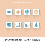education infographis design... | Shutterstock .eps vector #675448021