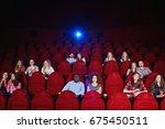 cinema auditorium with... | Shutterstock . vector #675450511