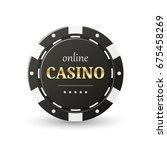 online casino banner. black... | Shutterstock .eps vector #675458269