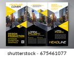 business brochure. flyer design.... | Shutterstock .eps vector #675461077