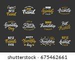 happy friendship day hand... | Shutterstock .eps vector #675462661