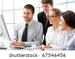 group of young business people... | Shutterstock . vector #67546456