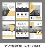modern brochure design template ...   Shutterstock . vector #675464665