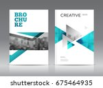 magazine cover layout design... | Shutterstock . vector #675464935