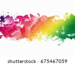 abstract artistic watercolor... | Shutterstock . vector #675467059