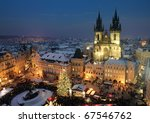 Old Town Square In Prague At...