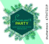 Summer Party Banner Vector...