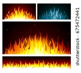 vector graphic flames background | Shutterstock .eps vector #675472441