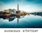 the banks of river thames seen... | Shutterstock . vector #675473269
