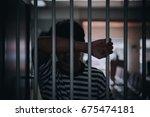 hands of men desperate to catch ... | Shutterstock . vector #675474181