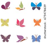 butterfly icons | Shutterstock .eps vector #675478639