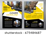 business brochure. flyer design.... | Shutterstock .eps vector #675484687