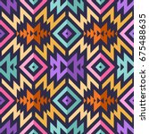 seamless vector tribal pattern...   Shutterstock .eps vector #675488635