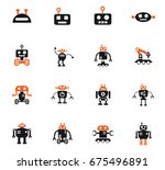 robots web icons for user... | Shutterstock .eps vector #675496891