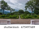 ornamental formal garden of... | Shutterstock . vector #675497689