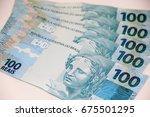 brazilian money | Shutterstock . vector #675501295